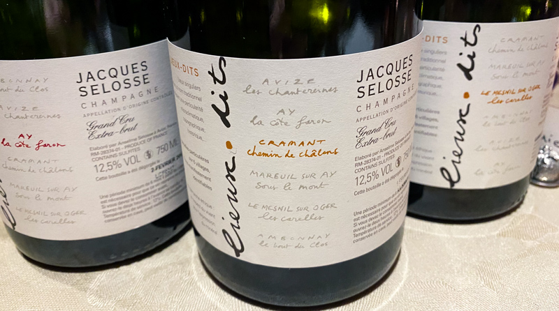 The six Lieu Dits Champagnes from Selosse – wineanorak.com