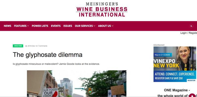 glyphosate in viticulture