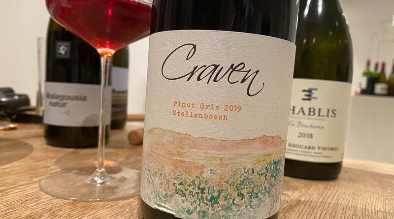 Highlights:cCraven Pinot Gris 2019 Stellenbosch, South Africa